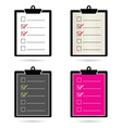 check list set color vector image