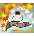 coff sbanner with coffee vector image vector image
