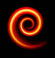 an abstract red swirl on black vector image