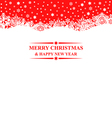 banner snows red vector image