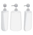 Plastic bottle with dispenser design set isolated vector image