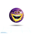 smileyemoticon hungry purple face with emotions vector image
