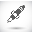 Sparkplug single icon vector image
