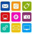 Technology Internet Communication Icons Set vector image