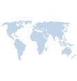 world map stars vector image