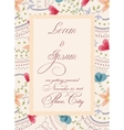 Vintage wedding invitation with torn paper banner vector image vector image