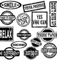 Rubber stamps with motivation and positive vector image vector image