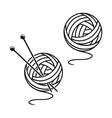Set of balls of a yarn vector image vector image