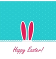 Happy Easter Funny Background with Rabbit vector image vector image