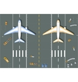 Overhead point of view airport vector image