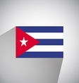 Flat Flag of Cuba vector image vector image