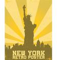 retro new york background vector image