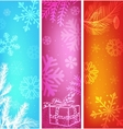 abstract christmas banners set vector image