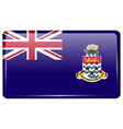 Flags Cayman Islands in the form of a magnet on vector image