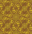 line flower pattern yellow vector image