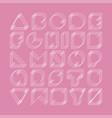 minimalistic font english alphabet vector image