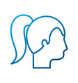 profile woman character business people vector image