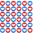 Seamless pattern with circles and hearts vector image