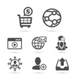 SEO and Advertising icons set 2 vector image