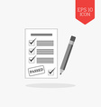 Test passed concept icon Flat design gray color vector image