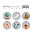 travel isometrics design vector image