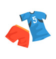 sports uniform of handball player shirt with vector image