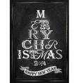 Poster Tree Christmas Happy chalk vector image