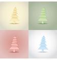 Winter theme set of christmas trees vector image