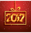 Contemporary modern 2017 new year card Holiday vector image