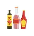 Ketchup Soya And Hot Sauce Set Of Pizza vector image
