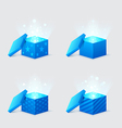 magic light comes from the blue gift boxes vector image