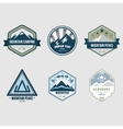 Vintage Outdoor Camp Badges and Logo Emblems vector image