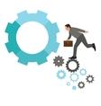 work career stepping gear employee business man vector image