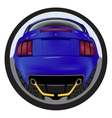American customized muscle car a rear view Effect vector image