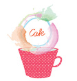 Tea or coffee cup and frame for menu design vector image vector image