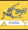 yoga gift certificate 1 vector image