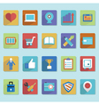 Flat icons for web design - part 2 vector image vector image