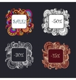 Set of abstract ethnic patterns border vector image