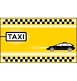 yellow modern taxi background vector image