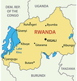 Republic of Rwanda - map vector image