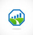 stop landscape graph business logo vector image