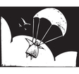 Parachuting vector image