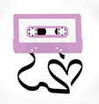 Cassette tape love song concept vector image