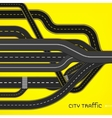 City Traffic Roads vector image