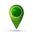Clover location icon vector image