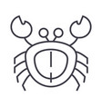 crab line icon sign on vector image