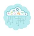 Data cloud vector image
