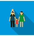 Family icon in flat style vector image
