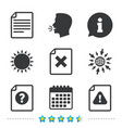 file attention icons exclamation signs vector image