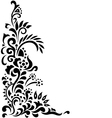 Floral background tattoo vector image